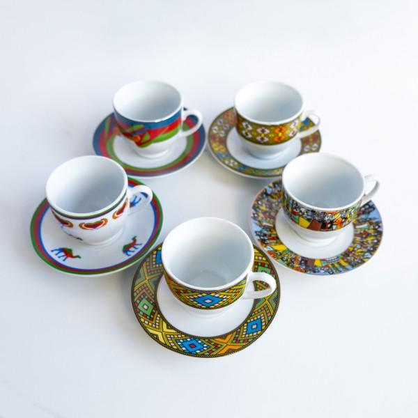 Porzellantassen in Saba, Tilét und Eritreadesign