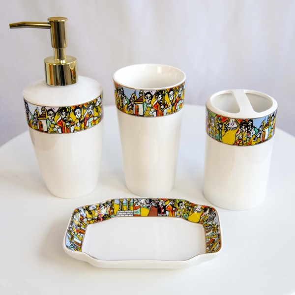 Äthiopisches Design BADESET 4 Stück