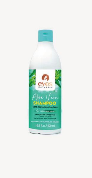 Evos Naturals Aloe Vera & Moringa Shampoo 500ml