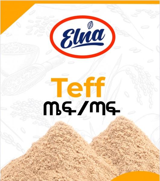 Teffmehl Teff Flour Brown የጤፍ ዱቄት