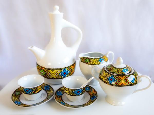 23 Stück Porzellan Kaffee-Set Tassen ohne Henkel